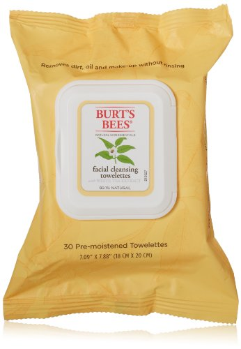 Burt'S Bees Facial Cleansing Towelettes With White Tea Extract, 30 Count (Pack Of 2) front-58983