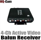 HQ-Cam 4 CH Channel CCTV Security Survelliance Cat5e Active Video Balun Reciever