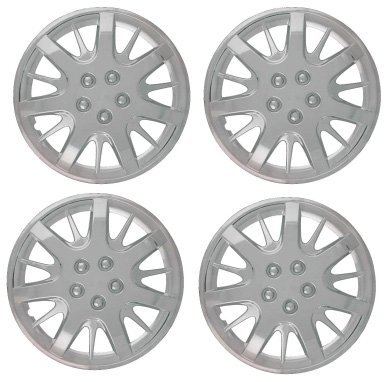 Set of Four 2000, 2001, 2002, 2003, 2004, 2005, 2006, 2007, 2008 Chevrolet Impala Style 16 Inch Chrome Hubcaps Wheel Covers
