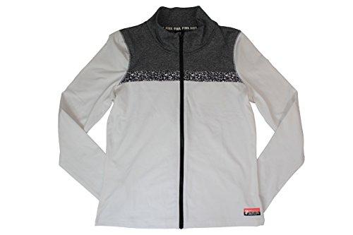 Victoria's Secret PINK Black/White Ultimate Workout Jacket (Large)
