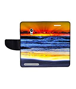 KolorEdge Printed Flip Cover For Asus Zenfone 4A450CG -Multicolor (45KeMLogo11050Zen4A450CG)