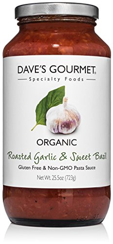 Dave's Gourmet Organic Roasted Garlic and Sweet Basil Pasta Sauce, Pack of 3 (Daves Gourmet Pasta Sauce compare prices)