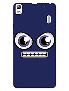 Eee - Cartoon Face - Hard Back Case Cover for Lenovo K3 Note - Superior Matte Finish - HD Printed Cases and Covers