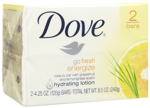 Dove Go Fresh Energize Hydrating Lotion Beauty Bar for Unisex, 2 Count by Dove