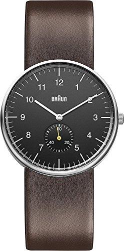 Braun - BN0024BKBRG - Montre Mixte - Quartz Analogique - Bracelet Cuir Marron