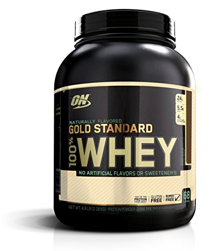 Optimum Nutrition Gold Standard 100% Whey, Naturally Flavored Chocolate, 4.8 Pound