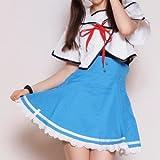 クロスフロントセーラー costume304 コスプレ コスチューム衣装 メイド AKBアキバ 女子高生 セーラー服 m