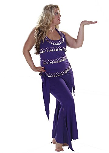 Belly Dance Plus Sized Lycra Pants & Top Costume Set | Dazzling Masri