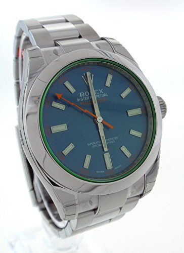ROLEX MILGAUSS ELECTRIC Z-BLUE DIAL STAINLESS STEEL WATCH BOX/PAP UNWORN 116400GV
