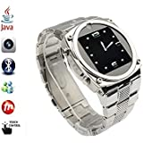 Flylink� Stainless Steel Mobile Watch Phone with JAVA Skype,Newest Bluetooth Watch Cell Phone,Silver