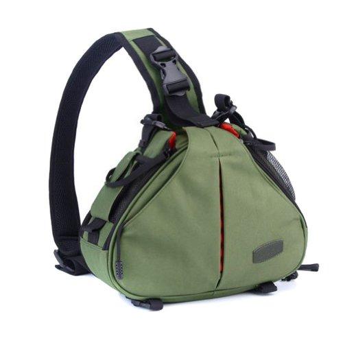 Techcare Tm ''Ultra Light'' Dslr Camera Army Green Case Travel Shoulder Bag For Canon Eos 70D, 60D, 6D, T3I, T4I, T5I, 7D, 5D Mk Series, Nikon D750, D610, D600, D7000, D7100, D5200, D3200, D800, D300S