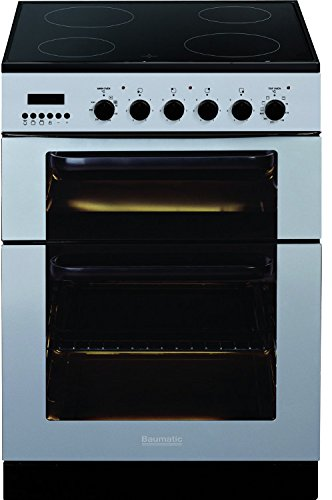 Baumatic BCE625SS Stainless Steel 60CM Double Oven Ceramic Cooker