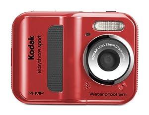 Kodak C135 EasyShare Sport Digitalkamera (14 Megapixel, 5-fach Digitalzoom, 6,1 cm (2,4 Zoll) Display, 5m wasserdicht, bildstabilisiert) rot