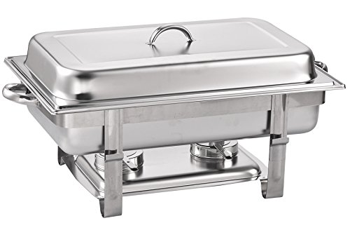 Cook N Home Chafer, Full Size Chafing Dish, 8 quart, Stainless Steel