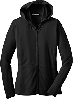 Port Authority Ladies Modern Stretch Cotton Full-Zip Jacket, black, Small