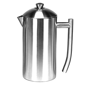 Brushed Stainless Steel 8-11 fl. oz. French Press - 23 Ounce by Frieling