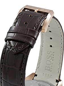 Boss 1513093 - Reloj de cuarzo para hombre, correa de cuero color marrón de Boss