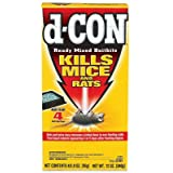 D-Con Ready Mix Bait Bits For Mice Brodifacoum Mice - 3.0 oz. - 4ct (Tamaño: 4 Bait Trays/ Yellow)