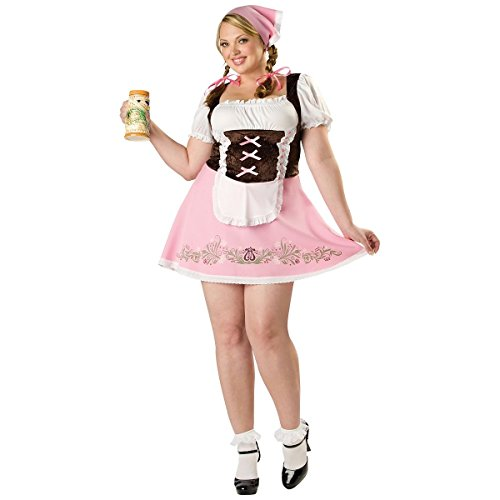 [GSG Fetching Fraulein Adult Sexy German Beer Girl Oktoberfest Costume Std/Plus] (Plus Size Dark Mad Hatter Costume)