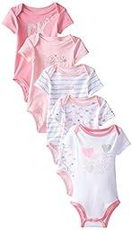 Calvin Klein Baby-Girls Newborn 5 Pack Creeper Set- Pink White Group, Multi, 3-6 Months
