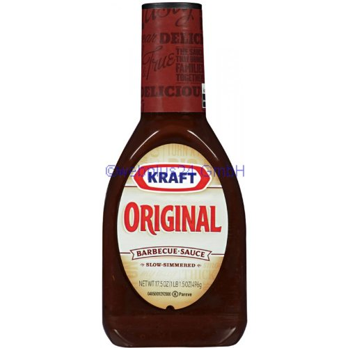 Kraft Barbecue Sauce Original Barbecue Sauce, 17.5 Ounce (021000038749)