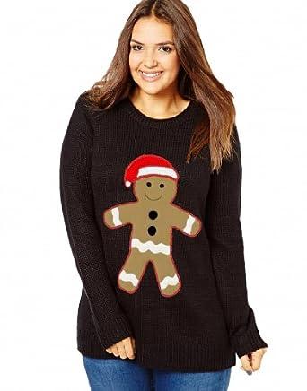 ... NOVELTY CHRISTMAS GINGERBREAD MAN JUMPER TOP: Amazon.co.uk: Clothing