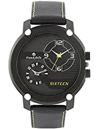 Franck Bella Casual Series Specially Designed Watch With Dual Time Black Dial Mens Watch-FB0245B