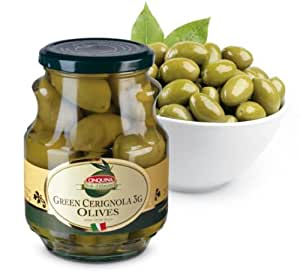 Amazon.com : Cinquina Green Cerignola 3G Olives : Green Olives Produce