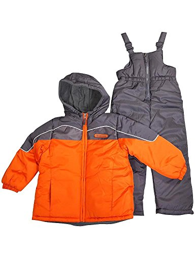 Ixtreme - Little Boys 2 Piece Snowsuit, Orange, Charcoal 34931-4 front-1005494