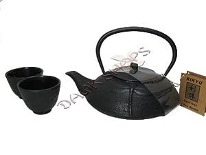 Black Cast Iron Tea Set Dragonfly #ts4 07 by M.V. Trading Co.
