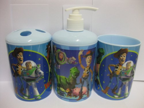 Disney Toy Story 3-Piece Bathroom Accessories Set