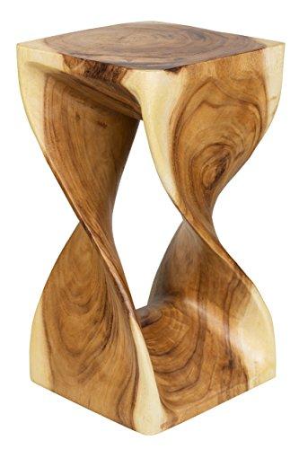 Hocker-gedreht-Sitz-Blumenstnder-Deko-Lounge-massiv-Holz-Thai-Design