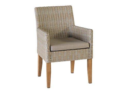 SIENNA Garten Sessel Poly Rattan Sandgrau kaufen