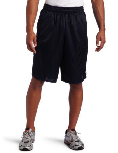 Champion Men`s Textured Dazzle Basketball Shorts, S-Navy
