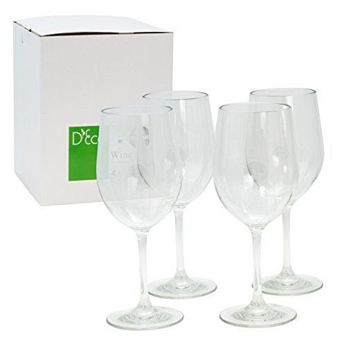 Unbreakable-Wine-Glasses-100-Tritan-Shatterproof-Reusable-Dishwasher-Safe-Set-of-4-by-DEco