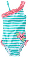 Hartstrings Baby-Girls Infant Striped One Piece with Floral