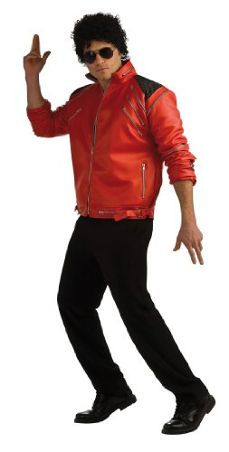 Michael Jackson Deluxe Zipper Thriller Jacket, Red. S to XL adults sizes.