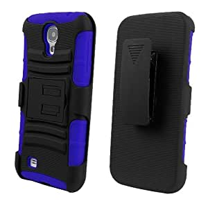 C&E Shell Case Armor 2 Combo for Samsung Galaxy S4 - Non-Retail Packaging - Black/Dark Blue