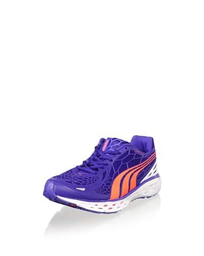PUMA Women's BioWeb Elite Running Shoe  - Clematis Blue/White/Peach