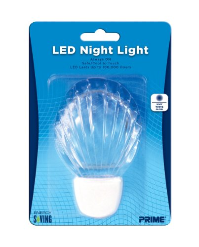 Prime Wire & Cable Nlsh Led Shell Night Light, 1-Pack