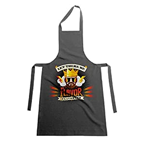 Exclusive & Limited Flavor God Apron for Healthy Cooking and Meal Prep in the Kitchen (Grey)