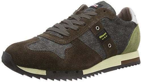 Blauer USA RUNLOW/HER, Low-Top Sneaker uomo, Marrone (Braun (GREEN)), 44