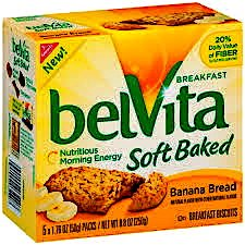 Nabisco Belvita Soft Baked Banana Bread Flavored Breakfast Biscuits, 5 packs - 1.76 oz. ea., (Pack of 2)