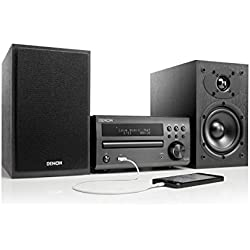 Denon D-M 40 - Sistema de audio, tamaño micro, color negro