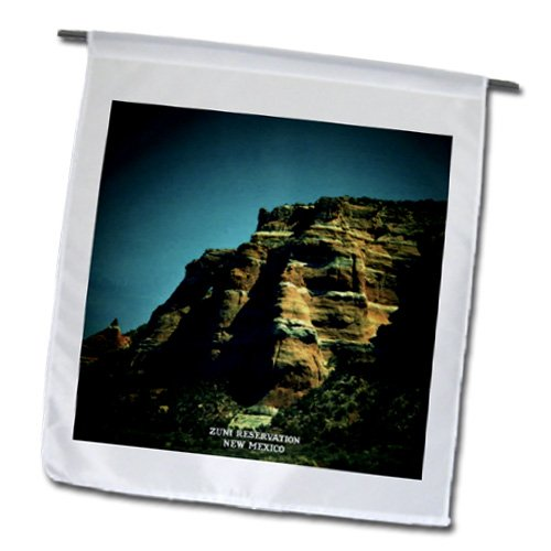Sandy Mertens New Mexico - Zuni Reservation - 12 x 18 inch Garden Flag (fl_48724_1)