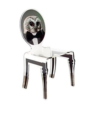 ACRILA Owl Graph Chair, Clear