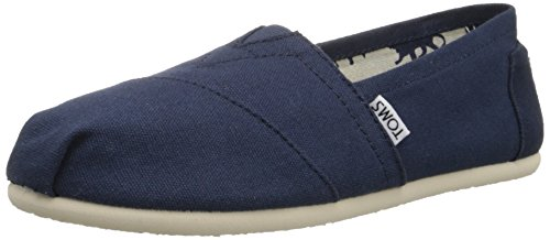TOMS Women's Canvas Slip-On,Navy Canvas,9 M (Greater Good Clothing compare prices)