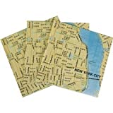 New York Doodles Destinations City Map Cocktail Napkins