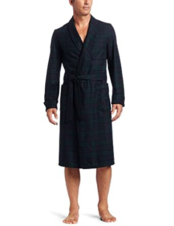 Pendleton Men's Lounge Robe, Black Watch Tartan, Small