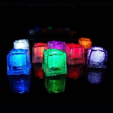 Zcl 36Pcs Color Changing Ice Cubes Led Light Party Wedding Christmas Bar Restaurant